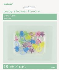 Pacifiers Baby Shower Favours